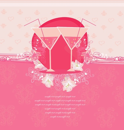 Illustration for Invitation To Birthday Cocktail Party      - Royalty Free Image