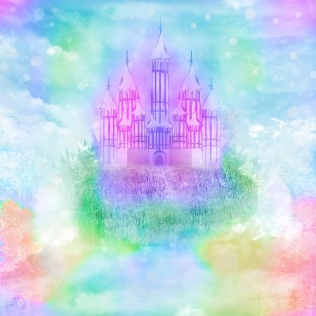 Watercolor Princess Castle