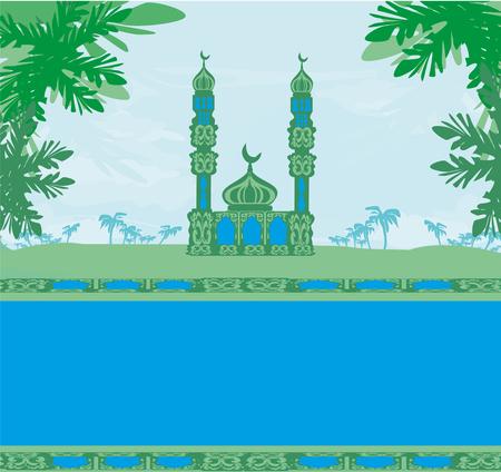 Illustration pour ramadan kareem card - image libre de droit