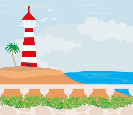 Lighthouse on the island