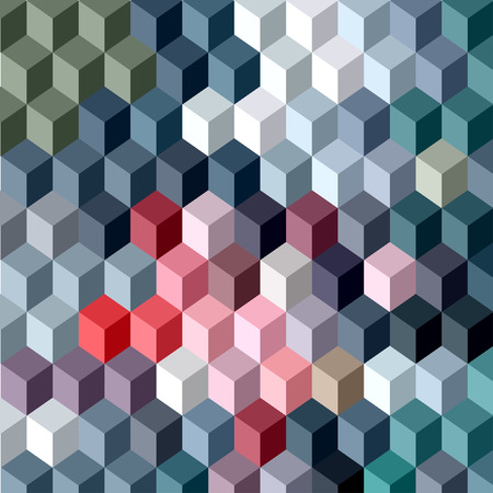 Abstract vector 3D cubes geometric background