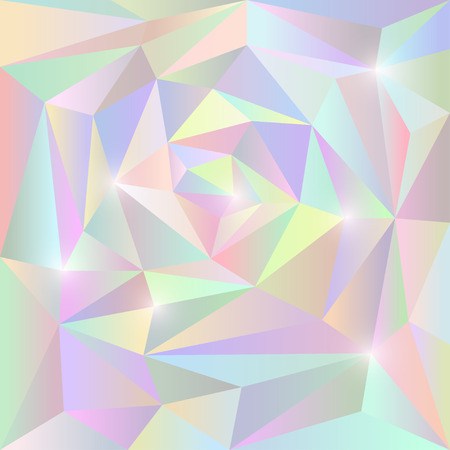 Abstract soft gradient colored vector triangular geometric background with glaring lights