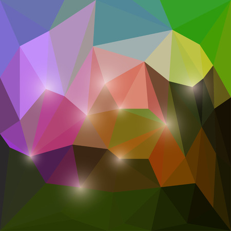 Abstract motley vector triangular geometric polygonal background with shines