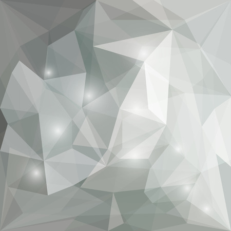 Abstract soft grey polygonal vector triangular geometric background with bright glaring lights for use in design for card, invitation, poster, banner, placard or billboard cover
