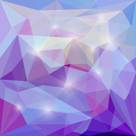 Abstract blended polygonal vector triangular geometric background with glaring lights for use in design for card, invitation, poster, banner, placard or billboard cover
