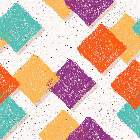 Illustration pour Abstract seamless pattern background. Handmade doodle seamless pattern for design card, invitation, t shirt, book, banner, poster, scrapbook, album, textile fabric, garment, bag print etc. - image libre de droit