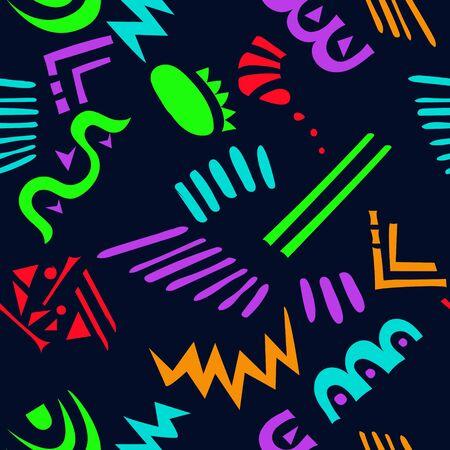Photo pour Neon geometric abstract pattern. Vector background - image libre de droit