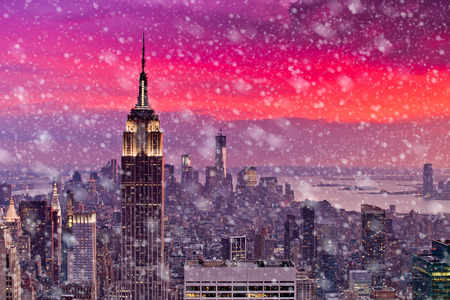 Photo for Snowing in New York - Royalty Free Image