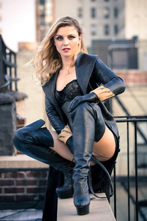 Beautiful woman dominatrix mistress freedom power control