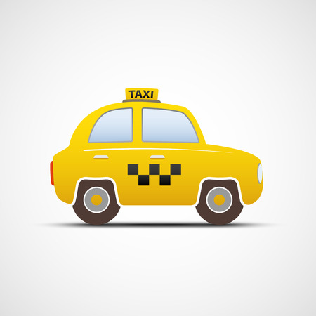 Taxi car isolated on white background. Vector image.