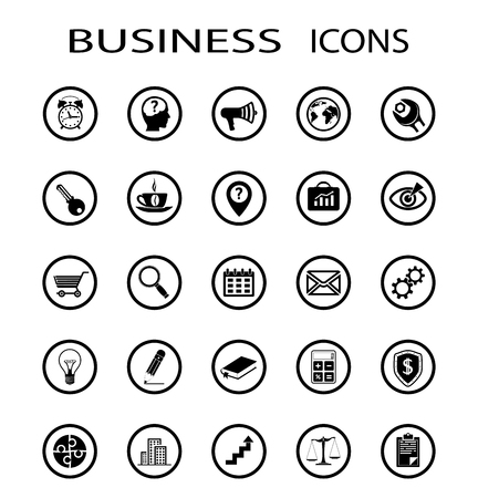 Set of business icons. Stock vector image.