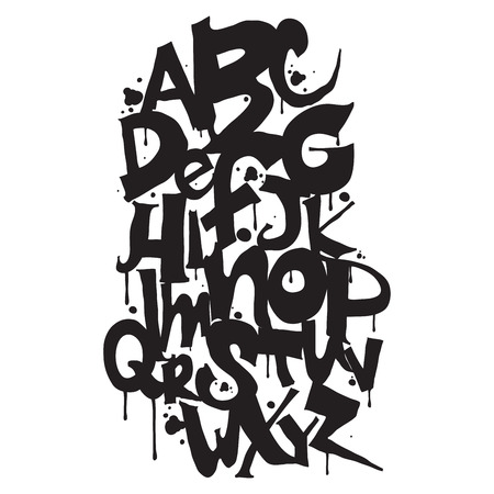 Alphabet. Hand drawn letters. Letters of the alphabet