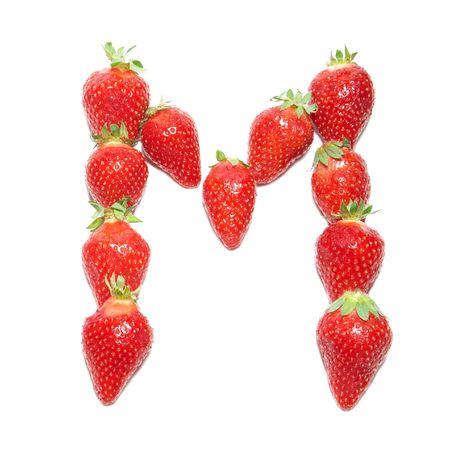 Strawberry health alphabet- letter M