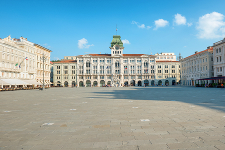 Old town square in european city. Italy, Triste