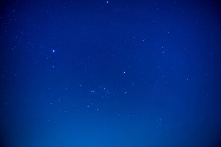 Photo for Night dark sky with bright stars as nature milky way space background - Royalty Free Image