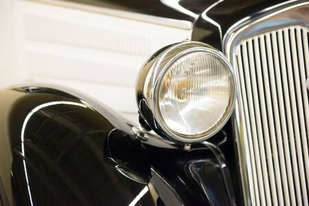 Photo for Retro black car headlight from old vintage auto exhibition - Royalty Free Image