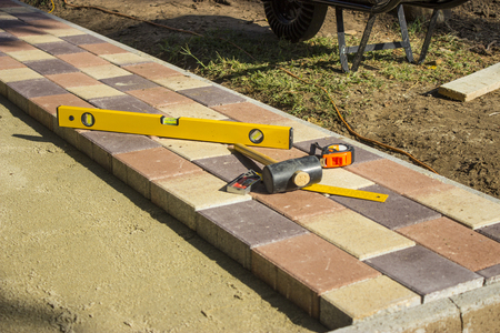 Photo for Tools for paving - object photography - Royalty Free Image
