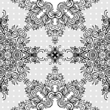 Ornate abstract lace seamless pattern. Vector background.