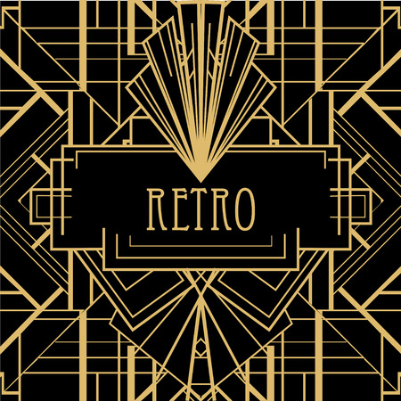 Illustration pour Art deco geometric pattern (1920's style) - image libre de droit