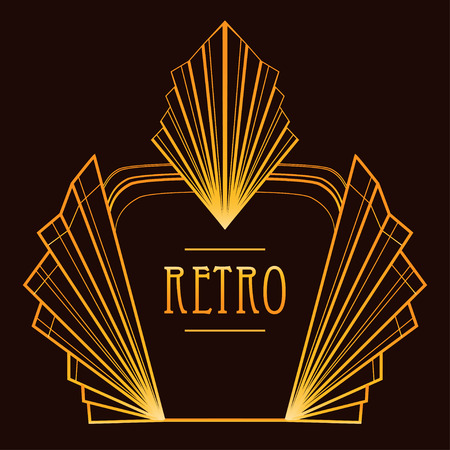 Illustration for Art deco geometric pattern (1920's style) - Royalty Free Image