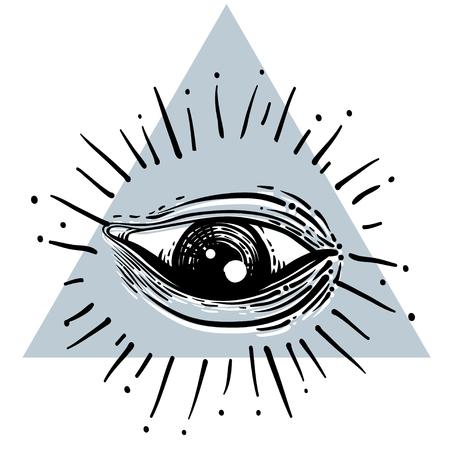 5a30dacbd3f50 Eye of Providence. Masonic symbol. All seeing eye inside triangle ...