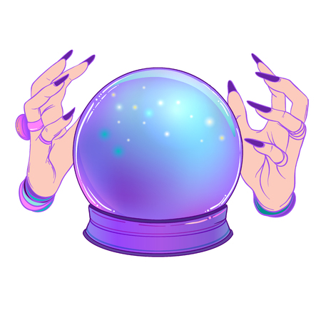 Vector of Crystal Ball with purple - ID:79136886 - Royalty Free