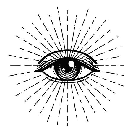 Blackwork tattoo flash. Eye of Providence. Masonic symbol. All ...