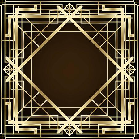 Illustration for Art Deco vintage patterns and design elements. - Royalty Free Image