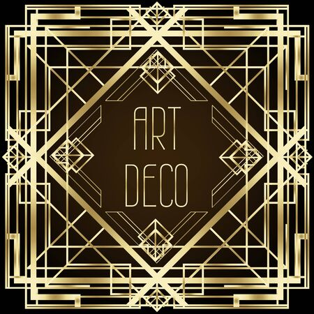 Illustration pour Art Deco vintage patterns and design elements. - image libre de droit
