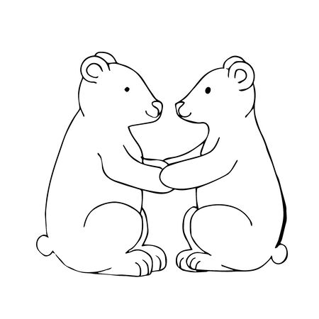 Free Printable Polar Bear Coloring Pages For Kids | 450x450