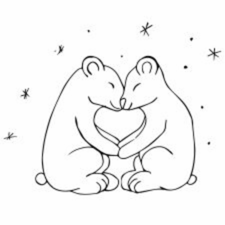 polar bear coloring pages | 450x450