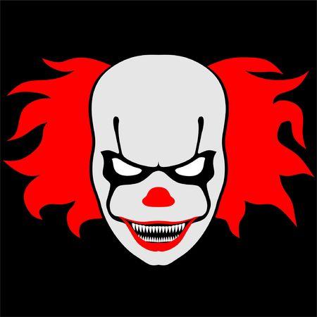 Illustration pour Bald scary Clown with smiling Face - image libre de droit