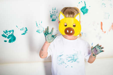 Photo for messy kid painting - Royalty Free Image