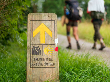 Photo for pilgrimage at Camino de Santiago - Royalty Free Image