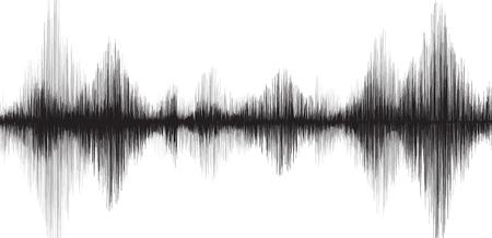 Illustration pour Classic Earthquake Wave on White paper background - image libre de droit