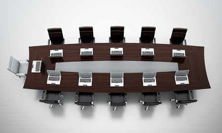 3d render of empty conference room