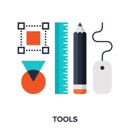Illustrazione per design tools - Immagini Royalty Free