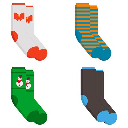 Illustration for Winter socks icon. Flat illustration of winter socks vector icon for web design - Royalty Free Image