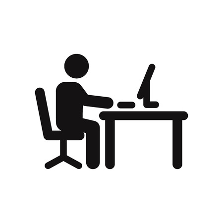 Illustration for Office worker vector icon - Royalty Free Image