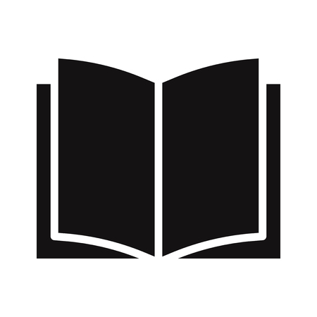 Illustration for Book icon vector - Royalty Free Image