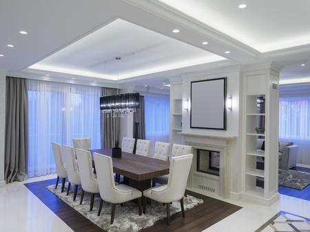 Photo pour Modern minimalist dining room - image libre de droit