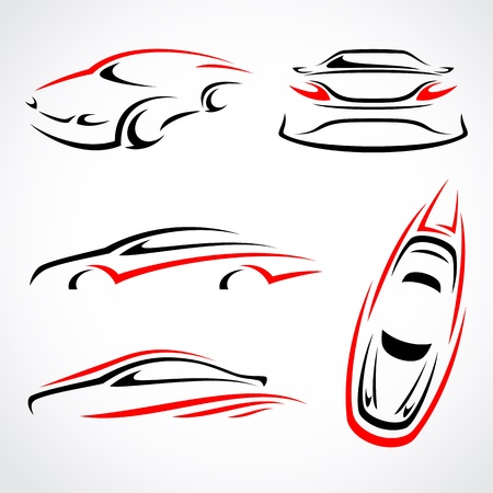 Cars abstract set  Vector