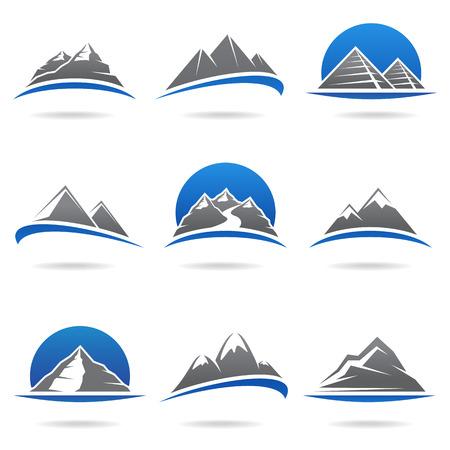 Mountains set  Vector