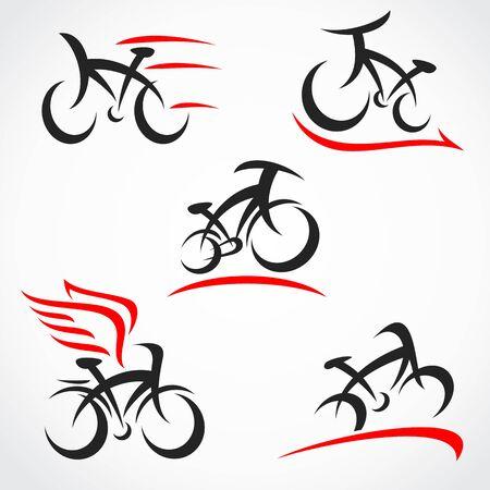 Illustration pour Bicycle set. Collection icon bicycle. Vector - image libre de droit