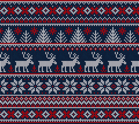 Christmas Sweater Background.Ugly Sweater Merry Christmas Happy New Year Vector