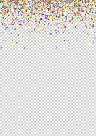 Illustration pour Color Carnaval Dust Design. Colorful Abstract Round Illustration. FallingFestive Splash Texture. Orange Shine Invitation Banner. - image libre de droit