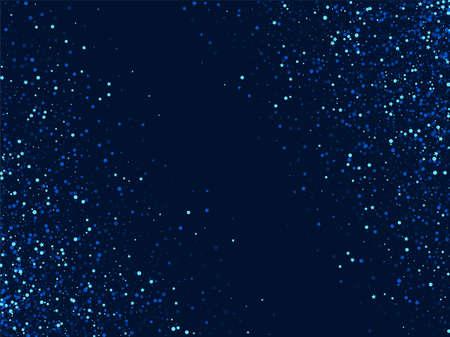 Illustration pour White Light Graphic Sparkle Design. Blue Galaxy Starry Illustration. Dust Digital Wallpaper. Dark Magic Sky Pattern. - image libre de droit