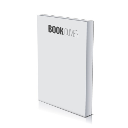 Ilustración de 3d Book cover paperback page document template, blank isolated on white. - Imagen libre de derechos