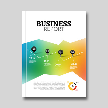 Cover Annual Report Business Colorful Triangle Polygonal Geometric Design Background, Brochure Book vector design