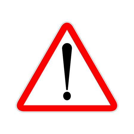 Illustration pour Attention sign symbol triangle. Caution icon exclamation. Alert road sign. - image libre de droit